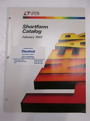 Linear Technology Shortform Catalog Feb 1988 Used