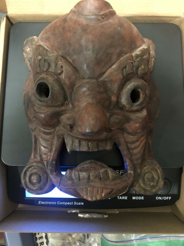 Chinese Demon Mask Wood  Old