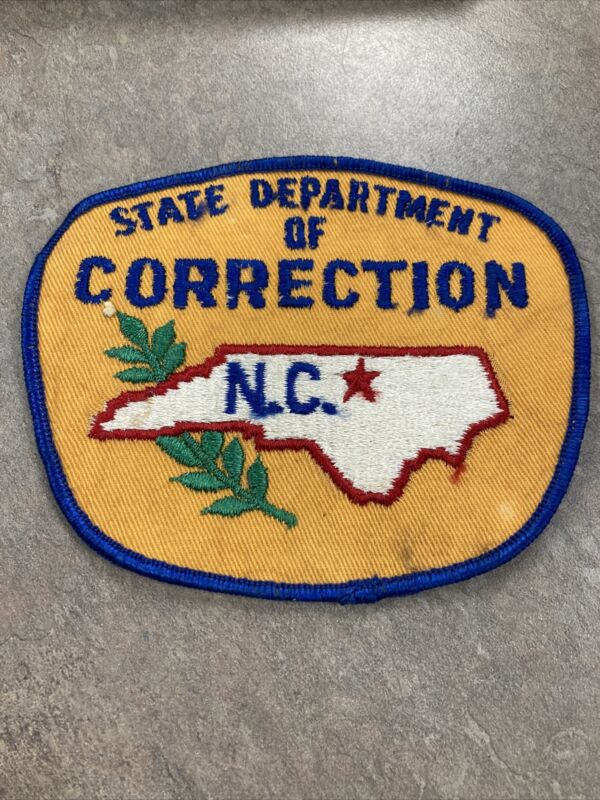 Vintage North Carolina State Department of Correction Patch, NC Patch Yellow