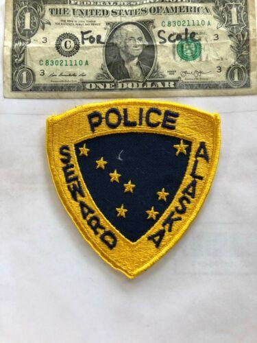 Seward Alaska Police Patch Un-Sewn in great shape