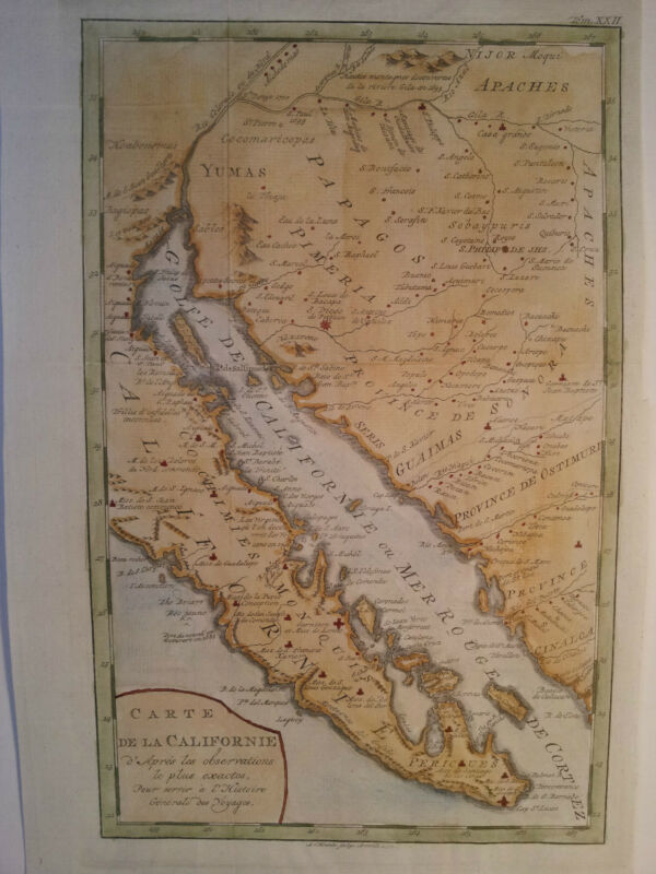Californie Carte De La Californie 1775 Krevelt