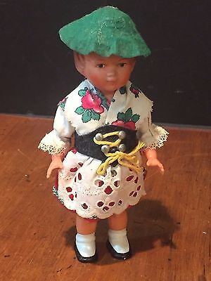 Vintage Windup Plastic Doll made in N.W. Germany