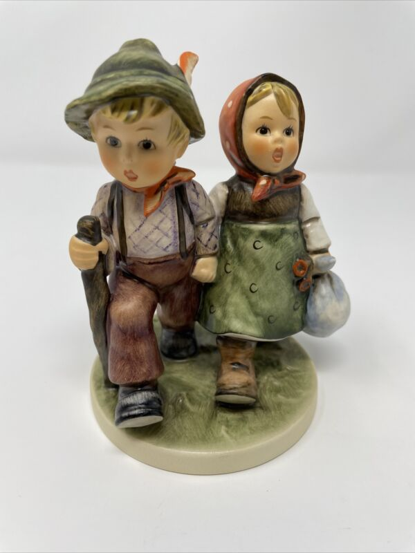 """Hummel #383 """"Going Home, Fancy Free"""" TMK-6, MINT, Exc. Cond. No Crazing With Box"""