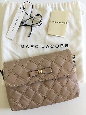 Marc Jacobs Bow Quilting Nude Leather Crossbody Bag - Preloved