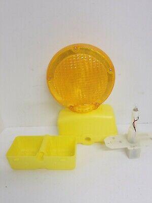 Road Construction Highway Barrier Barricade Flashing Amber Light New No Pin