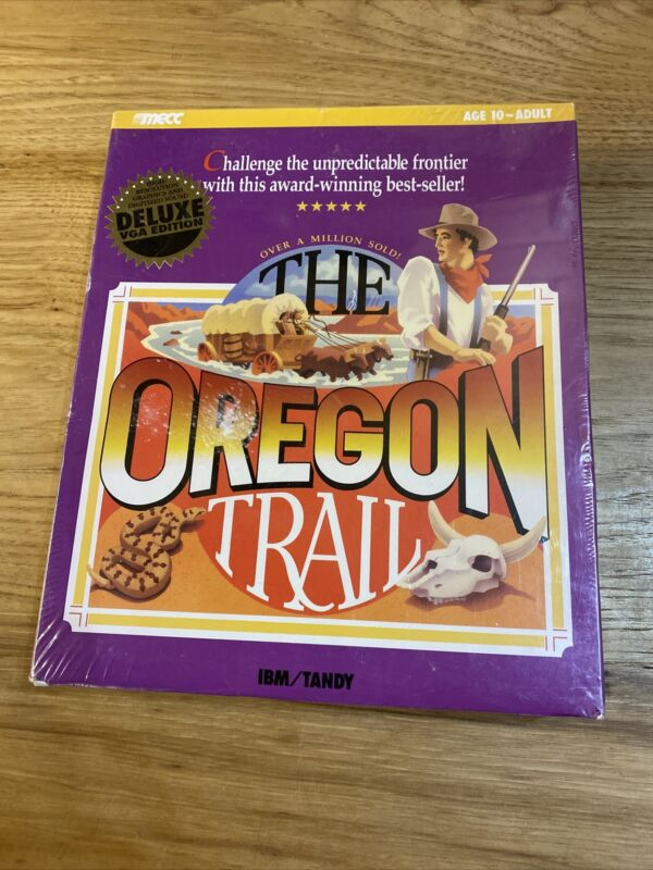The Oregon Trail IBM Tandy Sealed Coly New Old Stock Deluxe Vga Edition MECC
