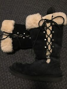 Women's black suede Ugg boots size 10