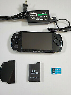 SONY PSP 3000 3001 E Playstation Portable; TESTED; NEW BATTERY; GOOD CONDITION
