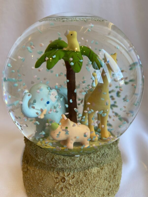 CARTER'S John Lennon Snow Globe animal Parade Collection Musical Plays Imagine