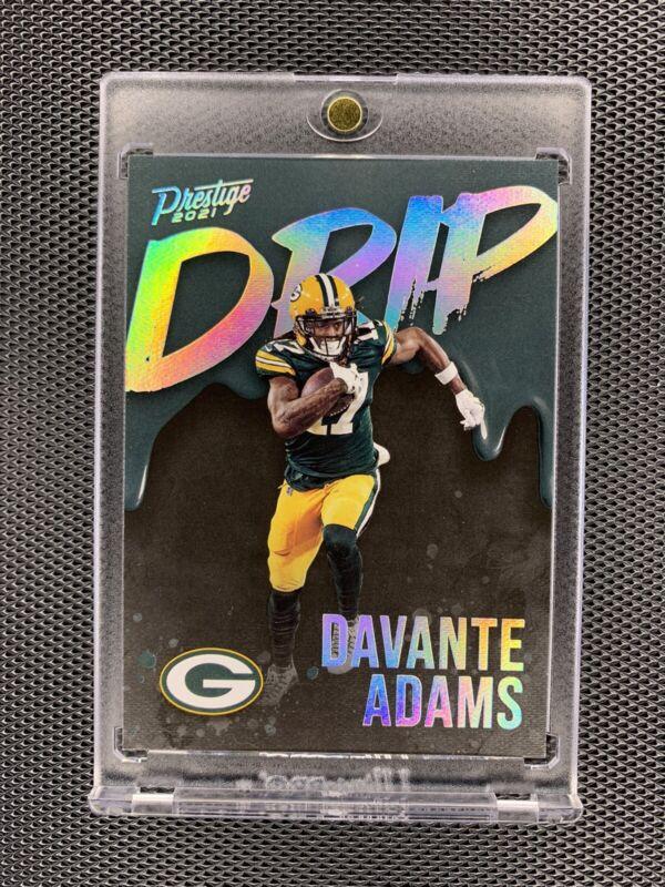 2021 Panini Prestige Drip Case Hit Davante Adams Green Bay Packers SP SSP Rare