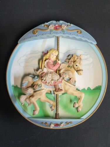 Bradford Exchange 1994 Carousel Daydreams Swept Away Musical Motion Plate