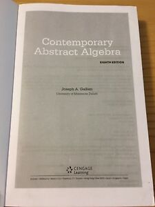 Contemporary Abstract Algebra by Gallian eighth (8th) edition