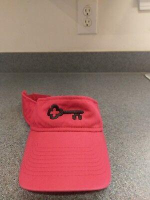 Keybank Key Corp Mortgage Company Red Visor Hat Cap Adjuatable Strap Key Bank