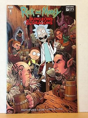 RICK AND MORTY VS DUNGEONS & DRAGONS #1 (of 4) 1:25 VARIANT COVER RI-B ONI PRESS