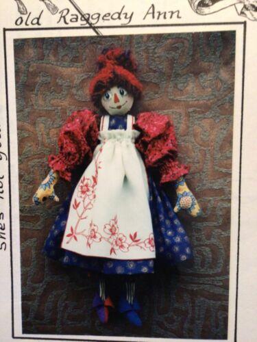 PATTERN Primitive Shabby Raggedy Ann Doll UNCUT OOP A Women's Toys RARE
