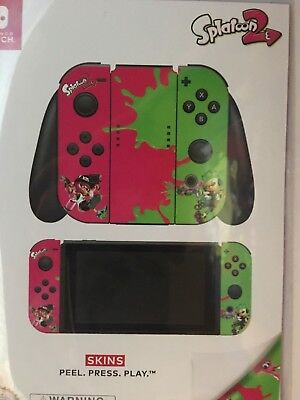 Controller Gear Nintendo Switch Skin   Splatoons 2  Officially Licensed