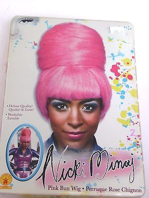 Nicki Minaj Pink Washable Bee Hive Wig Halloween Costume Rubies Trick Or Treat - Nicki Minaj Costume Halloween