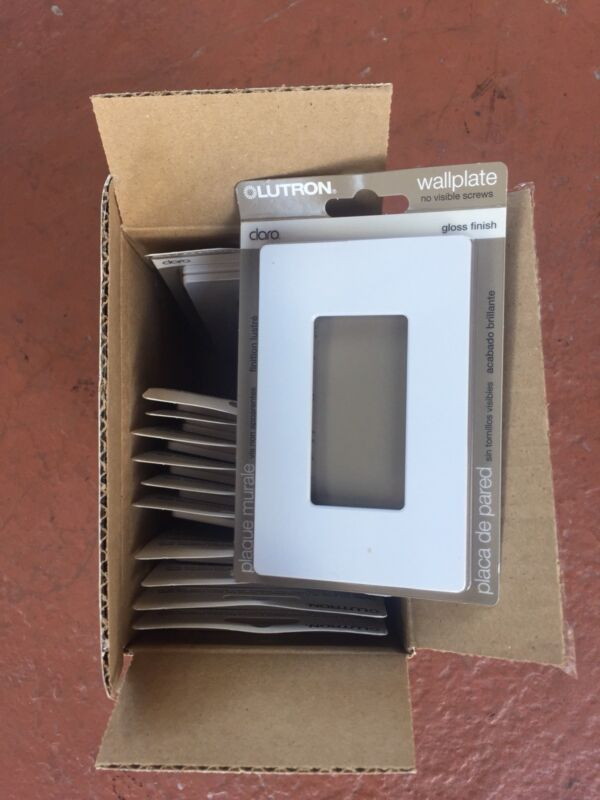 Lutron CW-1-WH Single Gang Claro Wall Plate White You Get 12 Of Them
