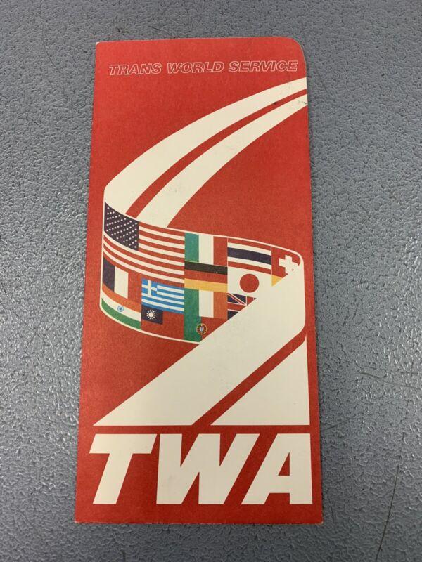 Vintage 1970's TWA Airline Ticket Folder
