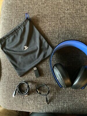 PlayStation Gold Wireless Stereo Headset - Black - Used