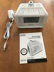Homedics SoundSpa Digital FM Clock Radio with Time Projection