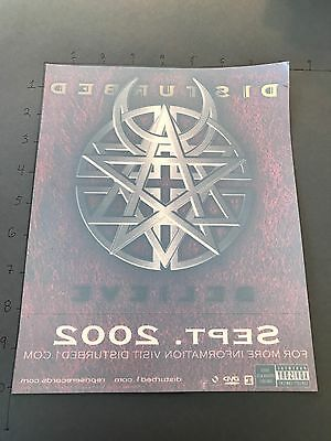 DISTURBED BELIEVE 10x8 MUSIC POSTER LARGE WINDOW CLING STICKER NEW UNUSED