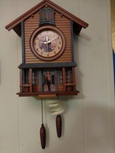 John Wayne working musical Chalet Battery Operated Cuckoo Clock CK2063