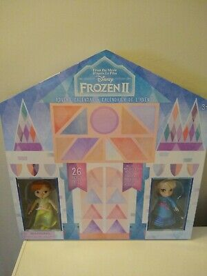 Disney Store Frozen 2 Advent Calendar 26 Pieces 2 Mini Dolls Anna Elsa *see pics