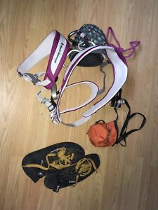 Black diamond climbing harness package with boreal shoes