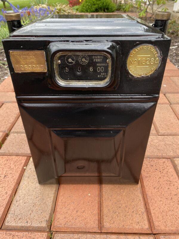 Vintage Antique Gas Meter 5 Lt. 3 Disc Metric Meter Works Erie, Pa. Circa 1890