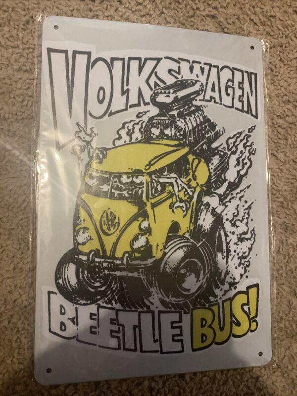 volkswagen Tin Sign 12x8