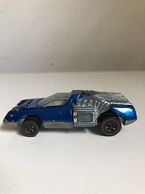 Vintage 1970 Hot Wheels Noodlehead Toy Car in Blue