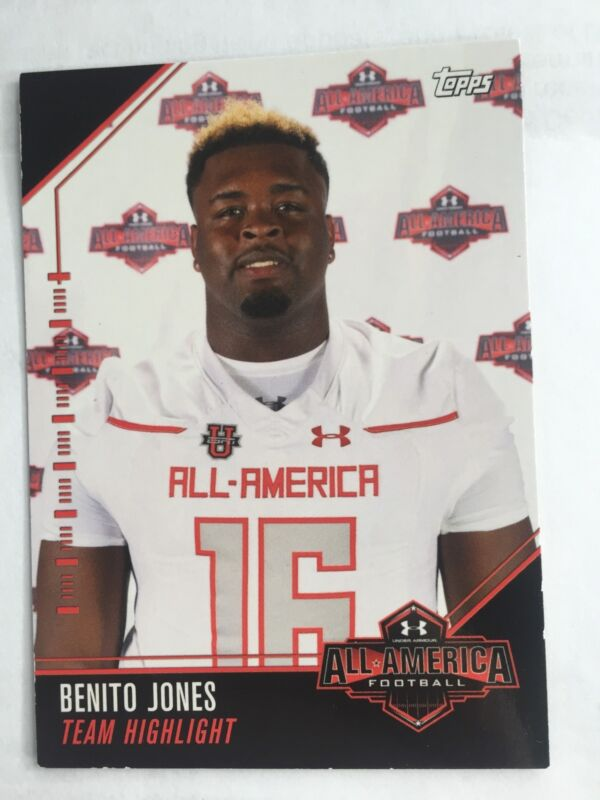 Benito Jones 2016 Topps Under Armour All America Football Card Ole Miss Rebels