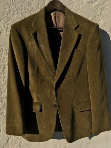 Lands End Tobacco Brown Corduroy Sportcoat Size 38R