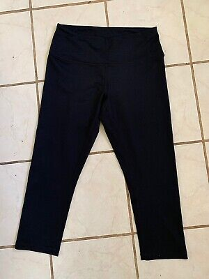 Z by Zella NEW! Black CLASSIC! Cropped Yoga Fitness Leggings Sz M NWOT!