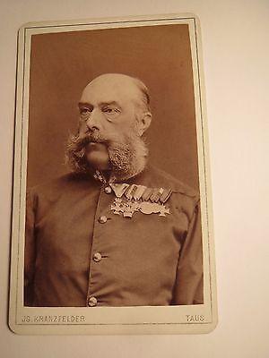 Taus - Ludwig von ? als alter Soldat mit Bart in Uniform mit 5 Orden / CDV