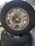 "Holden rim & tyre 2of silver rim 16"" wheel Heatherbrae Port Stephens Area Preview"