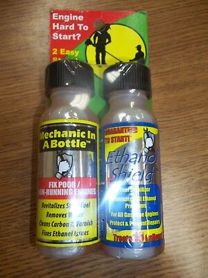 Mechanic In A Bottle & Ethanol Shield 2oz Twin pack. Fix your engine! -