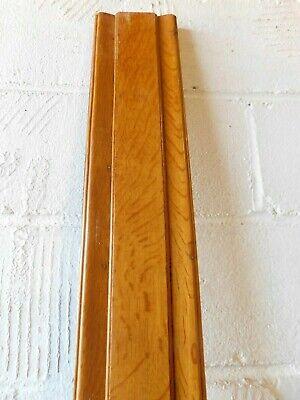 "4 Lot VTG Dark Wood Furniture Trim Pieces Rosettes Square 1.75/"" Oak Leaf"
