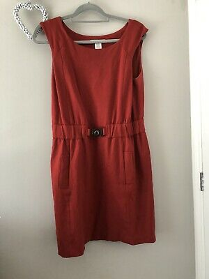 Kenneth Cole New York Rust Coloured Dress Size Uk 12