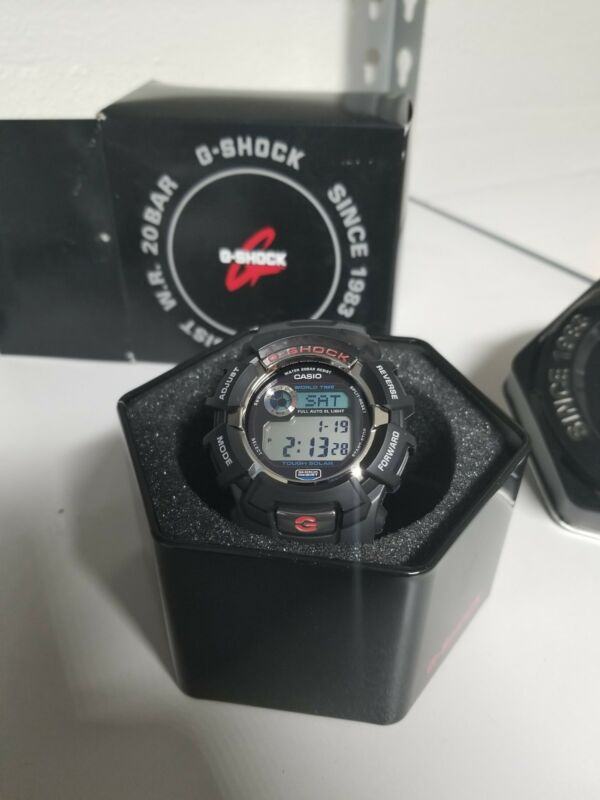 casio g- shock mens womens g-2310r-1cu 3192 black and orange