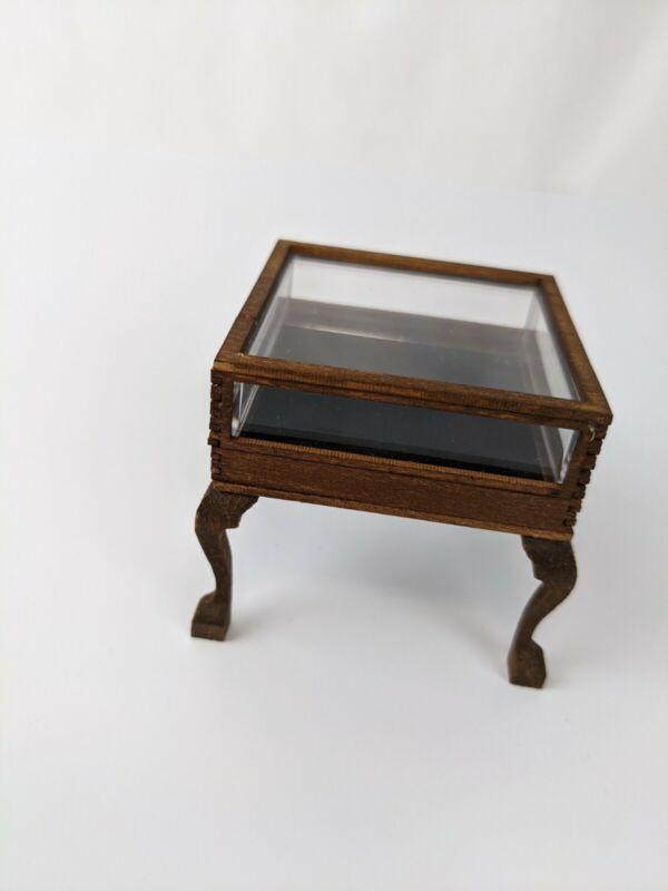 Dollhouse Miniature Display Case / Table 1:12 Scale Vintage Artist Made OOAK