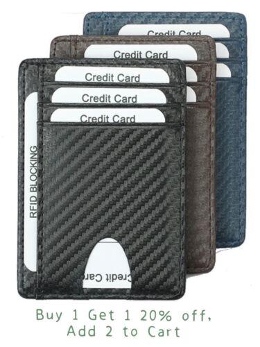 Mens RFID Block Slim Wallet Credit Card ID Holder Minimalist