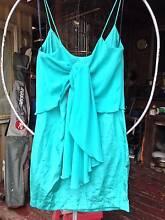 Women's KUKU Green Rosalie Ruffle Dress Frock with tags S