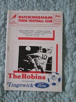 Buckingham Town V Gravesend   Northfleet    Beazer Homes League   1992 93