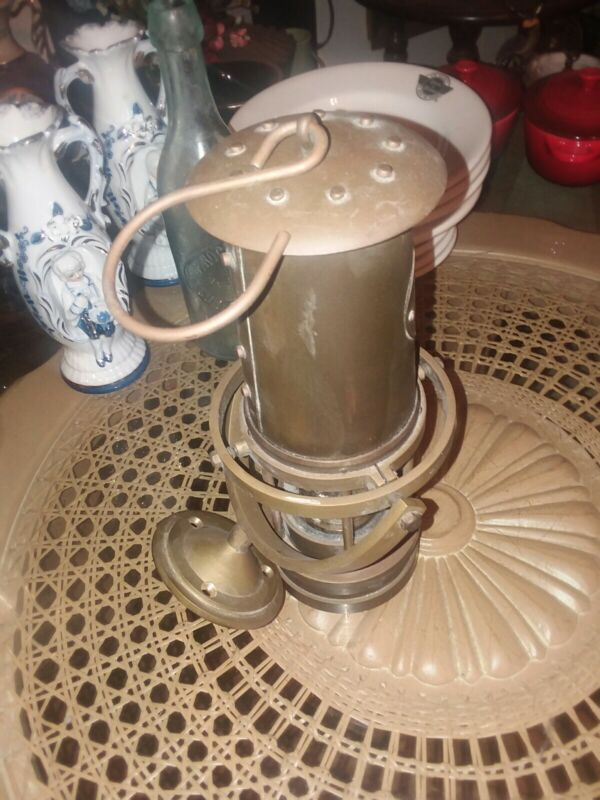 Brass Yacht Lamp (Weems & Plath) With Gyro Mount Excellent!