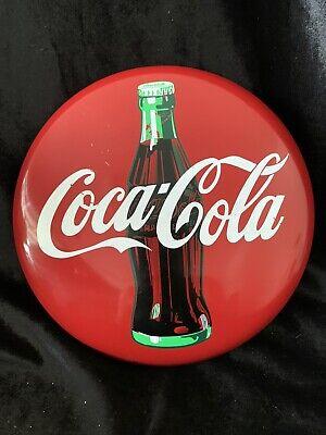 "Vintage 1990 Coca-Cola ""Tacker-Type"" Sign Metal Button Wall Decor(ww)"