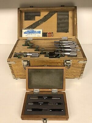 Mitutoyo 0-6 In Outside Micrometer Set With Standards .0001 Model 103-907a