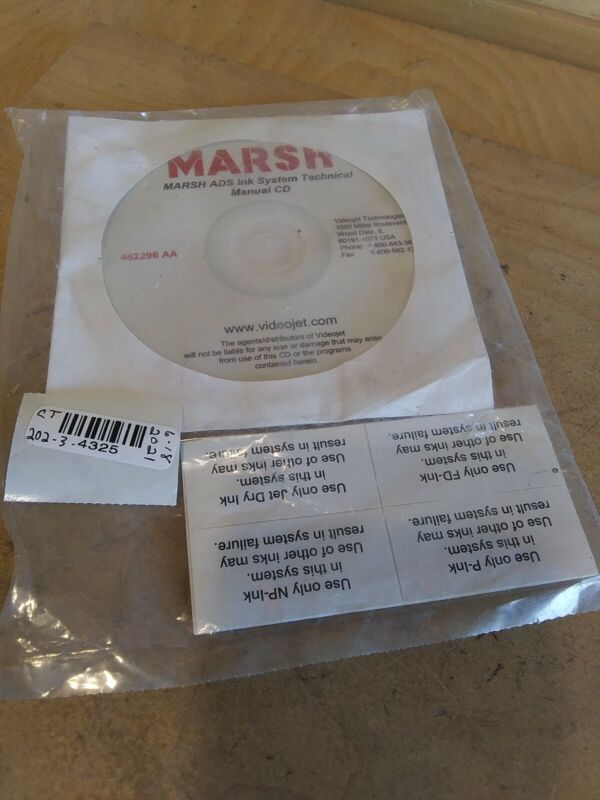 Marsh ADS Ink System Technical Manual CD