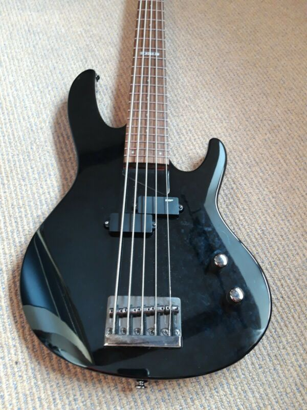 ESP LTD P-Bass Guitar B-15 Five String, Black, Used but in very Good condition.